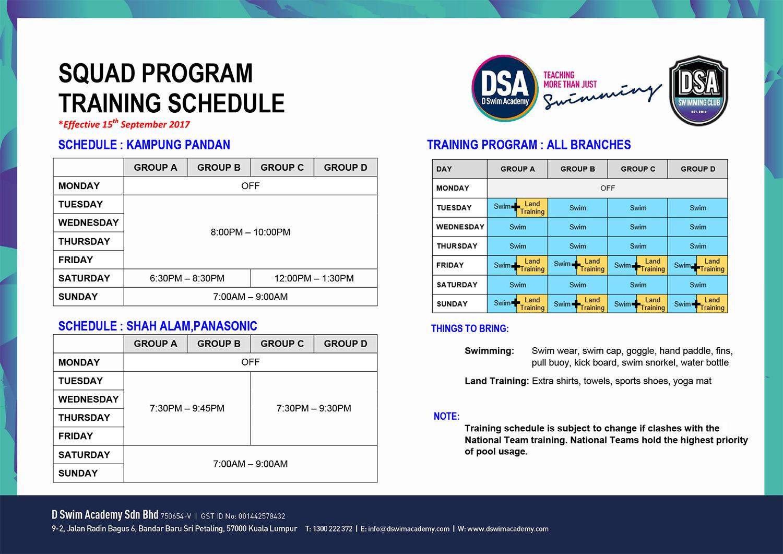 SQD-Training-Schedule