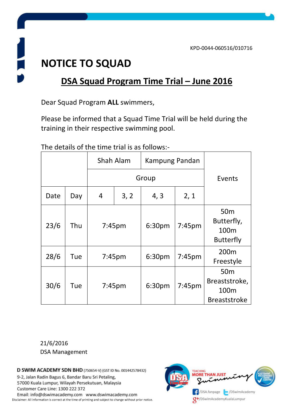 Notice - time trial June 2016 (Amended)