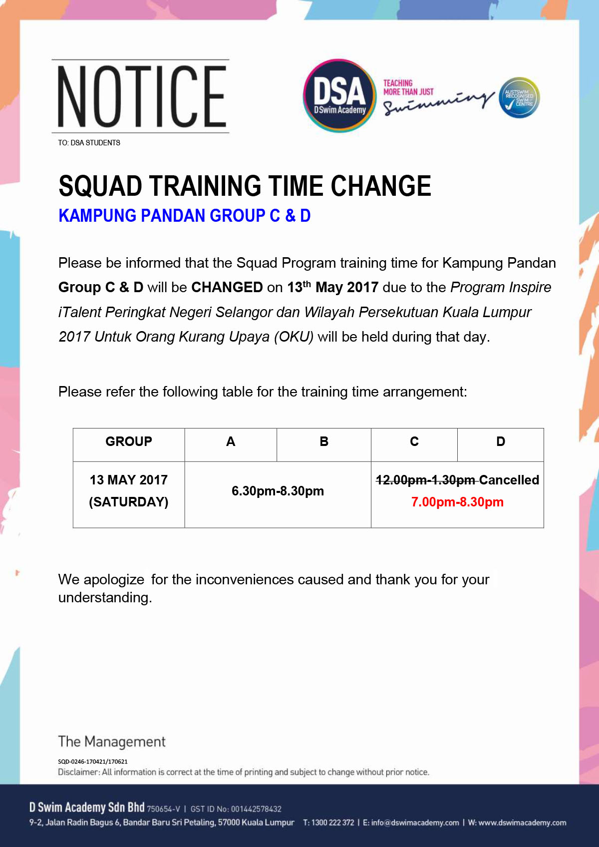 KP squad training time 13 May 2017