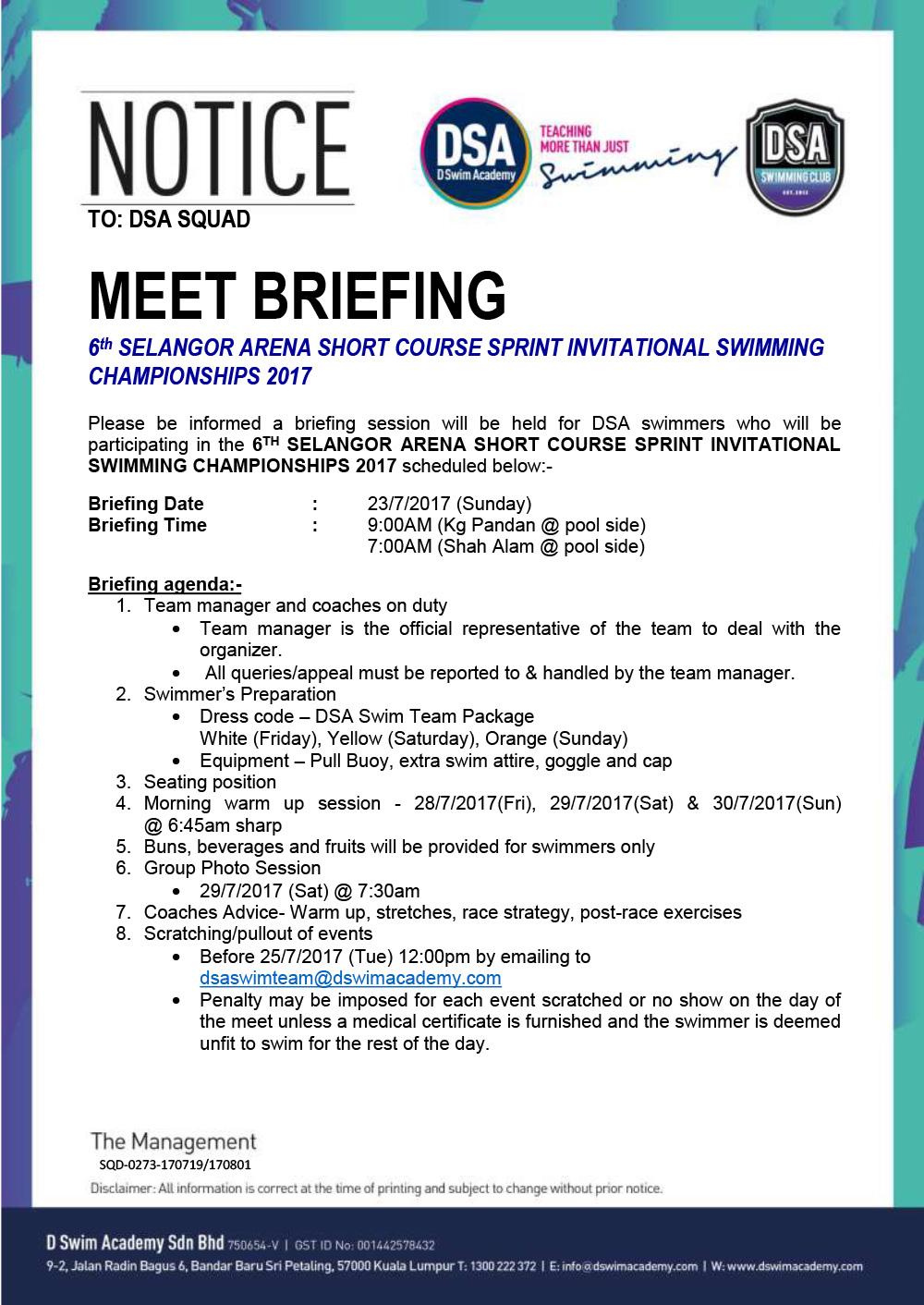 Briefing session 6th selangor arena short course sprint 2017 dsa briefing session 6th selangor arena short course sprint 2017 sciox Choice Image