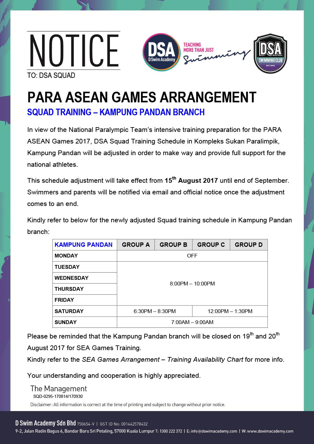 PARA-ASEAN Games Arrangement
