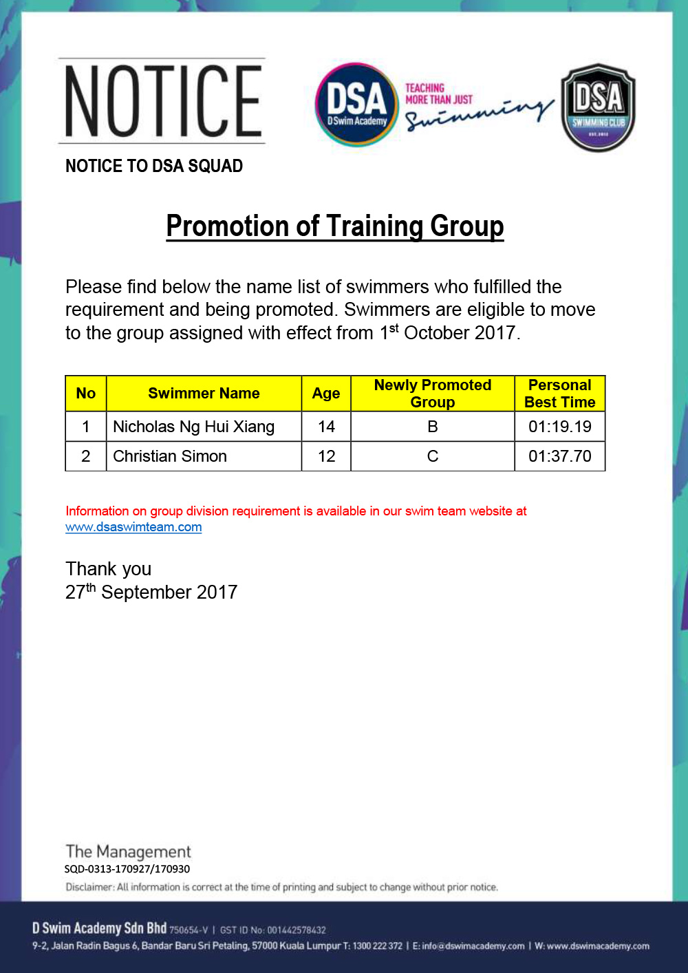 Promotion-of-Training-Group