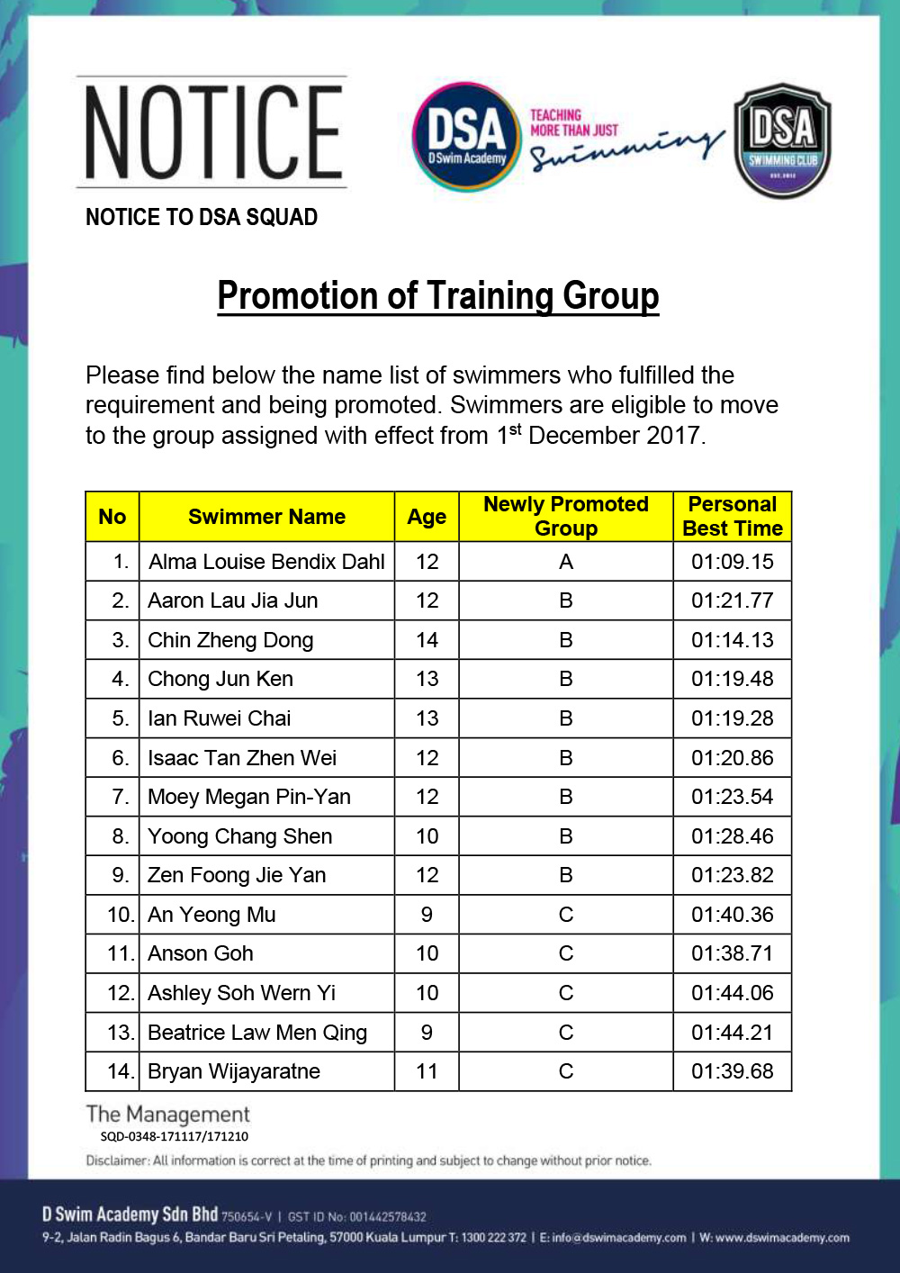 Promotion-of-Training-Groups