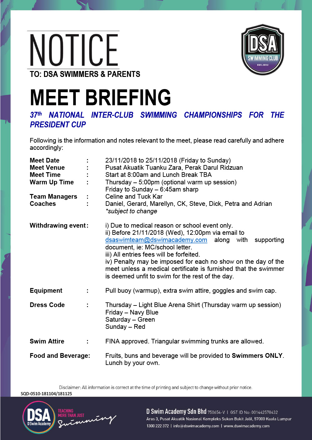 Team-Briefing-Notice-37th-President-Cup