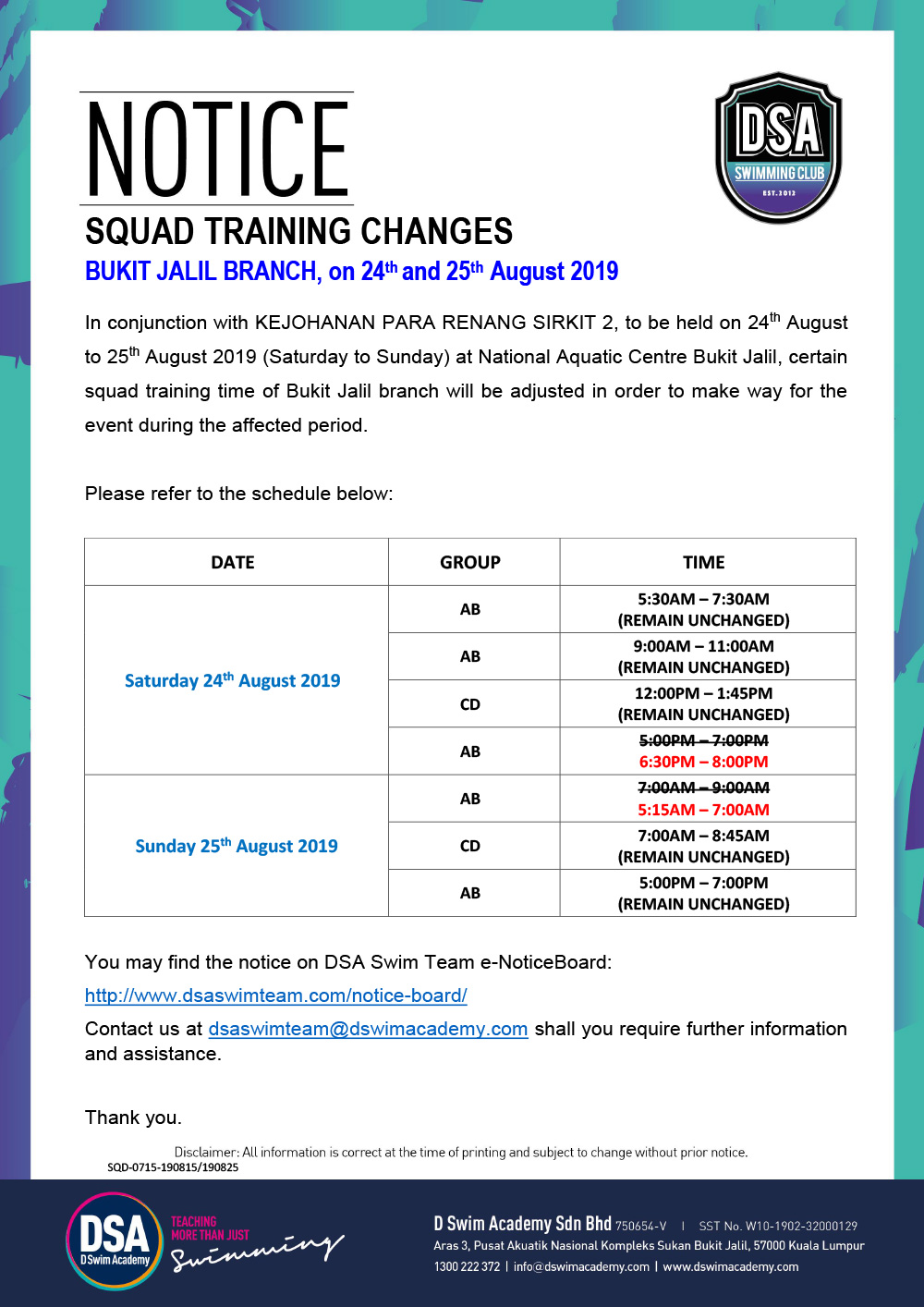 Bukit-Jalil-Squad-Training-Change