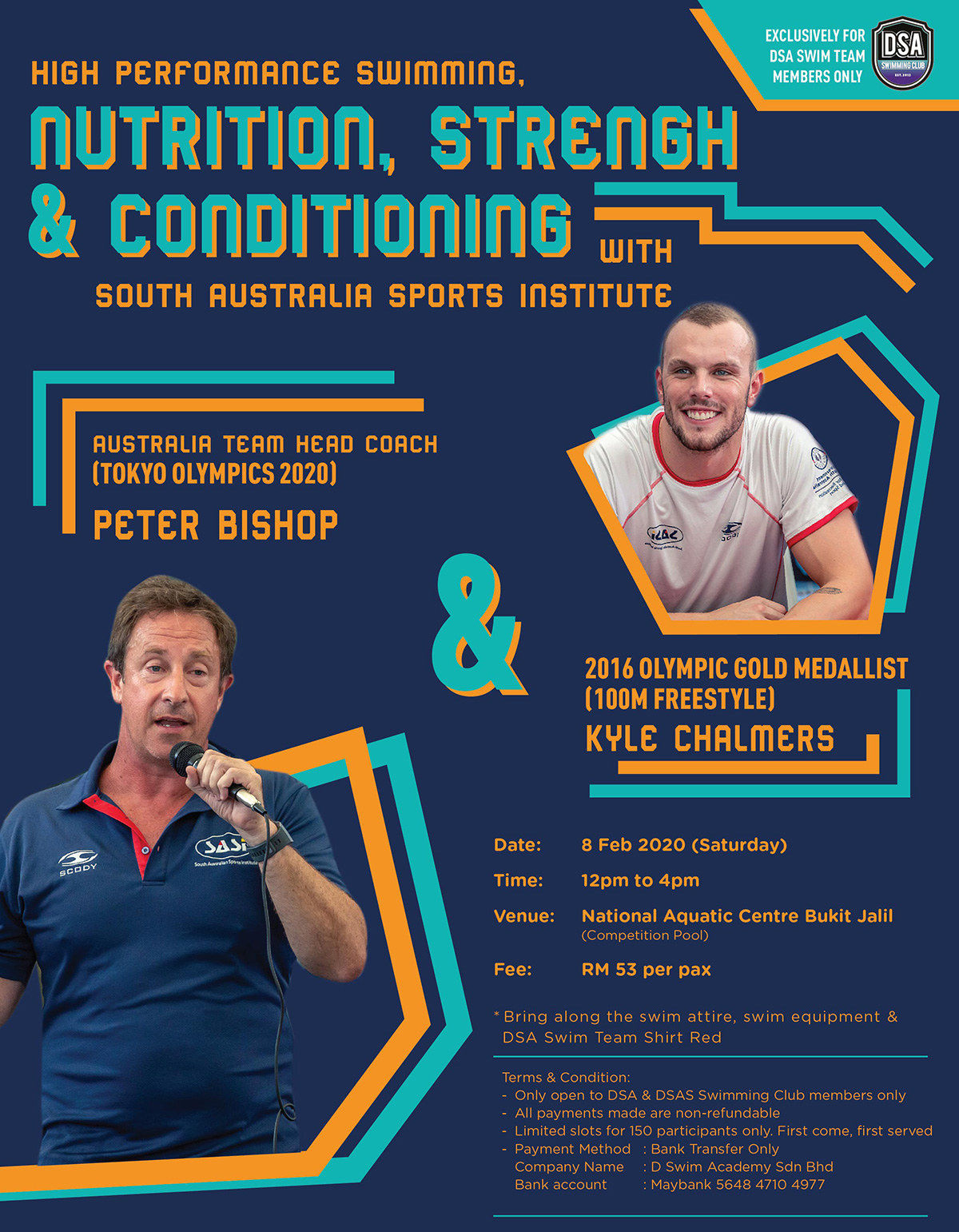 Swim Clinic by Peter Bishop & Meet Kyle Chalmers 2020