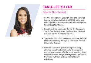 Sport Nutritionist - Tania Lee Xu Yar